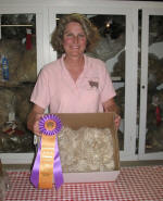 Lisa at Wash. Co. Fair with Best of Show Fleece from HMR Pretty Face